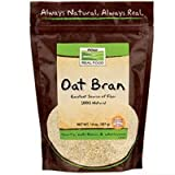 Oat Bran, 14 oz by Now Foods (Pack of 4)
