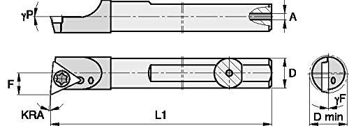 6 Length 0.375 Shank Diameter -5/° Angle Carbide Shank Boring Bar Right WIDIA WIDIA Circle QCBI37565R QCBI Small Hole Boring Bar for Turning