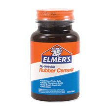Rubber Cement, Plastic Bottle w/ Brush, 4 oz., Sold as 1 Each