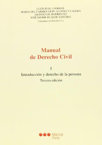 Manual De Derecho Civil I - Introduccion Y Derecho De La Pe