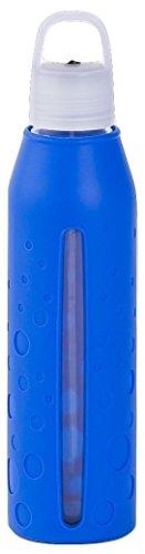 Lululemon H2Om BPA-Free Glass Water Bottle with Lid, 22 oz (Cerulean - Glasses Lulu