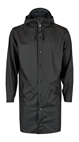 01 para Negro Rains Black Long Hombre Impermeable Waterproof Aw4vTq0O