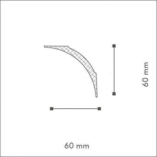 NMC Nomastyl Moulure NE2 Polystyr/ène