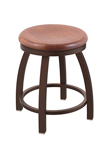 Holland Bar Stool Co. 80218BZMedOak 802 Misha Vanity Stool, 18