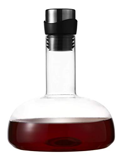 Eravino Wine Decanter Breather Carafe 100% Hand Blown Crystal Glass Decanter Excellent Gift For Wine Drinkers
