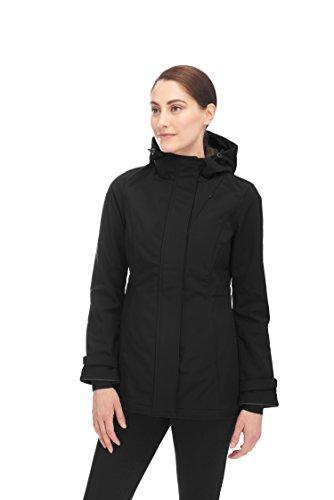 Alpine North™ Womens Lightweight Soft-Shell Coat Fleece Lined Warm Hooded Jacket