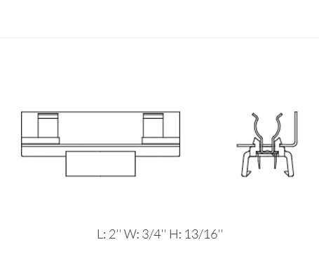 12-Pack 9830-12 Black Wide Beam Linear Festoon Lamp Holder by Ambiance Lighting