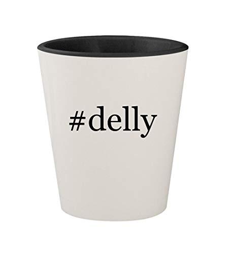 #delly - Ceramic Hashtag White Outer & Black Inner 1.5oz Shot Glass