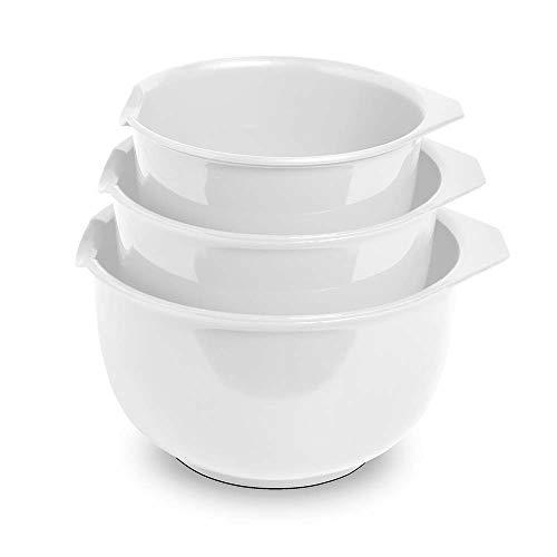 GLAD GLD-71113 Set Mixing Serving Bowls of 3 Different Sizes | 2.5, 1.8, 1.2 L (3.6, 1.9, 1.2 Quart) | BPA Free, Toxic, Food Safe | Non SLI, One