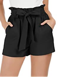GRACE KARIN Women's Casual Slim Fit Elastic Waist Short Pants Shorts with Pockets
