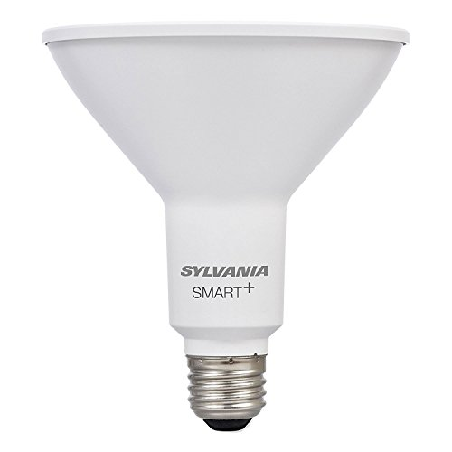 Sylvania Smart Home 74580 Dim Sylvania Smart+ LED Light Bulb, PAR38 Dimmable White, 60W Equivalent, Works with SmartThings and Alexa, 10 Year Series, Soft