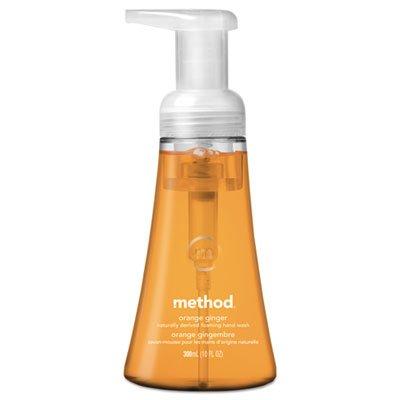 Method Foaming Hand Wash, Orange Ginger, 10 oz Pump Bottle, 6/Carton (MTH01474) - Ginger Foaming Soap Refill
