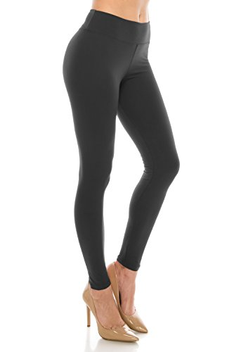 ALWAYS Leggings Women High Waist - Premium Buttery Soft Yoga Workout Stretch Solid Pants Charcoal Plus