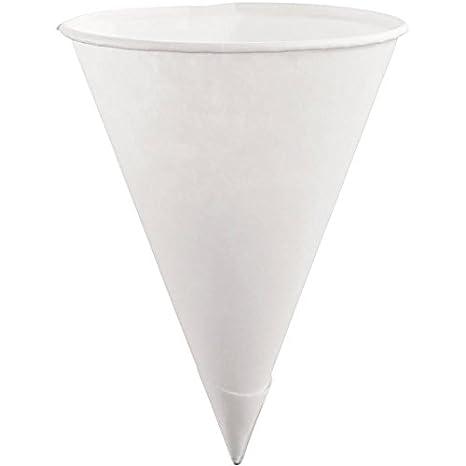 5000 conos de papel reciclado para agua fría.