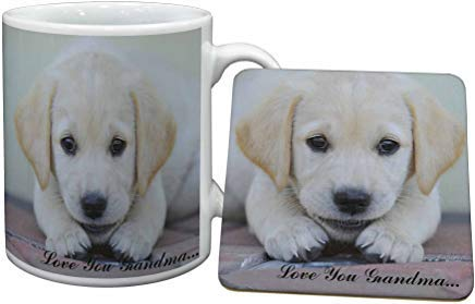 Voicpobo Labrador Pup 'Love You Grandma' Coffee Mugs for sale  Delivered anywhere in USA