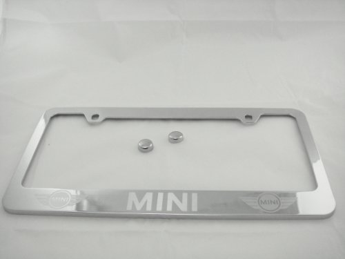 Mini Cooper Chrome License Plate Frame with Caps