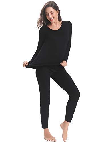 Hiver Noir amp; Coton Bas Aibrou Chaud vêtement Femme Thermique Pour Haut Sous awqP4Yv