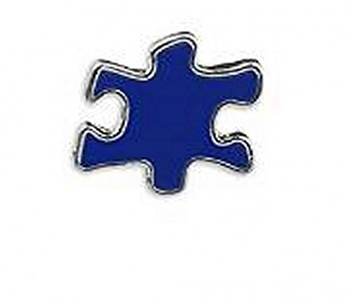 (Autism Awareness Blue Puzzle Piece Lapel)