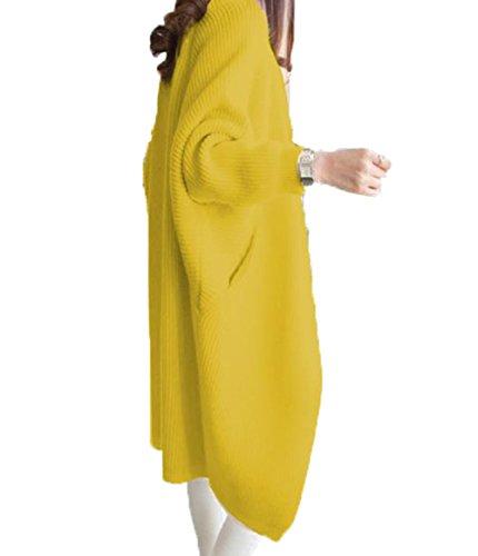 アイビエツ(AIBIETU) レディース ニット ロング カーディガン ファッション 長袖 カジュアル ドルマンスリーブ アウター