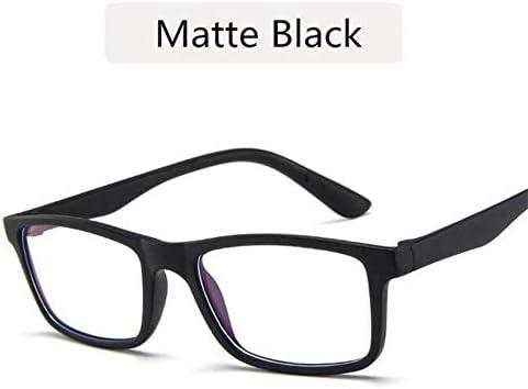 Miwaimao 花粉メガネ,レトロな女性アンチブルーライトグラスフレームメンズ小さな正方形のコンピューター眼鏡作業メガネUV400保護眼鏡、マットブラック