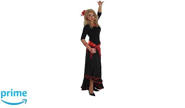 LLOPIS - Disfraz Adulto Falda rociera Adulto Negra: Amazon.es ...