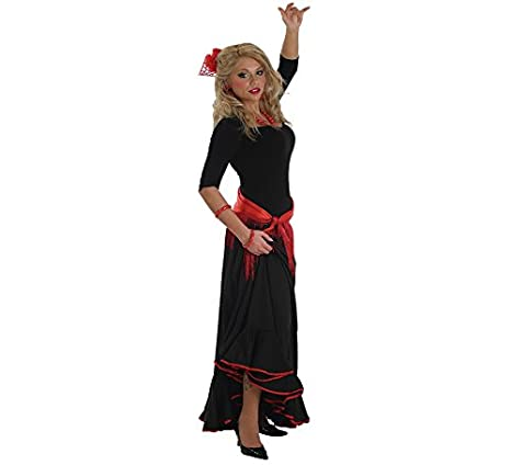 LLOPIS - Disfraz Adulto Falda rociera Adulto Negra: Amazon.es: Juguetes y juegos