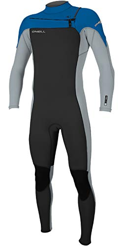 (O'Neill 2019 Hammer 3/2mm Chest Zip Wetsuit Black/Cool Grey/Ocean 4926 Oneill Mens Size - L)