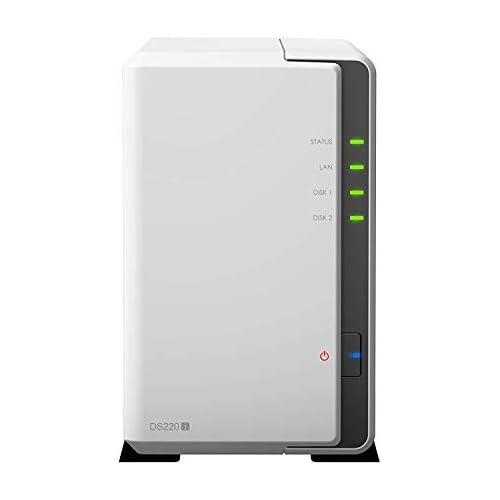 chollos oferta descuentos barato Synology DS220j Servidor NAS 2 bahías 8 TB 2 Discos Duros de 4 TB