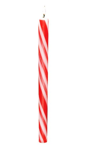 Biedermann & Sons Candy Cane Striped Taper Candles, 12-Inch, Box of 12 by Biedermann & Sons (Image #1)