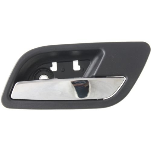 Make Auto Parts Manufacturing - SILVERADO/SIERRA P/U 07-14 REAR DOOR HANDLE RH, Inside, Black Bezel, Chrome Lever - GM1553109