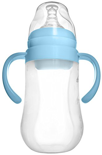 Tinukim Easy Squeeze Silicone Baby Bottle with Handles - Anti-Colic Nursing System (240 ml)