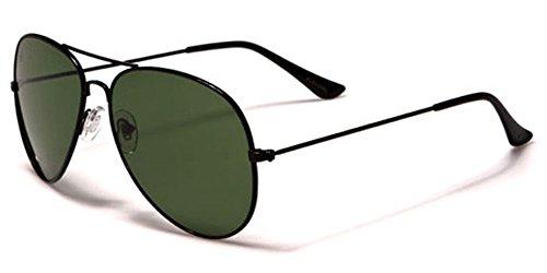USA American Classic Glass Lens Retro 80's Pilot Aviator Sunglasses (Eagle Pilot)
