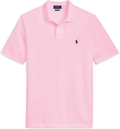 Ralph Lauren Pink Pony (Polo Ralph Lauren Classic Fit Mesh Pony Logo Polo Shirt (S, CarmelPink))