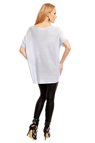 Art Styling - Camisas - Cuello redondo - para mujer azul claro