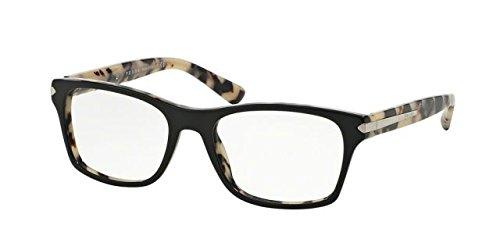 Prada PR16SV Eyeglass Frames ROK1O1-52 - Top Black/white - Pradas Black White And