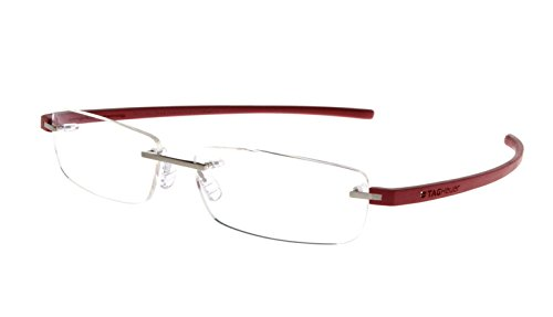 Tag Heuer TH3942 012 Reflex 3 Rimless Eyeglass Frames Cardinal Red 60 - Rimless Tag Glasses