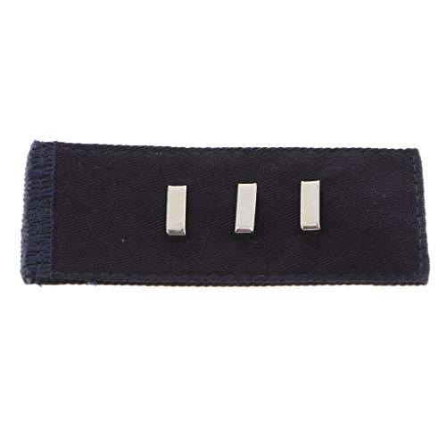 1 Piece Adjustable Waistband Extender Hooks Buttons for Slacks Accessories   Color - Navy - Invisible Kevlar Thread