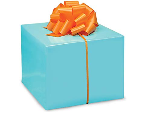 Solid Color Gloss Gift Wrap Paper - Turquoise - 24 inches x 417 feet