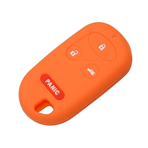 Sophisticate OkeyTech Silicone Remote Key Case Fit para Honda CRV S2000 Insight Prelude 4 Botones Entrada sin llave Mejor Gel de sílice Nueva cubierta de piel