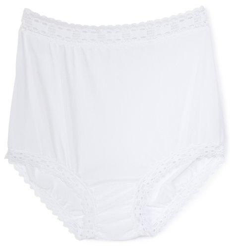 - Olga Women's Secret Hug Fashion Scoops Brief Panty, White, 7/L