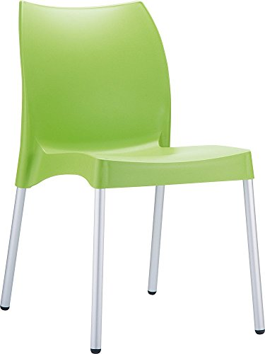 Clear Chair Store 049LG Vita Indoor and Outdoor Stacking Chair (Set of 4), Light Green