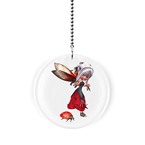 (The Ladybug Fairy Fan/Light Pull)