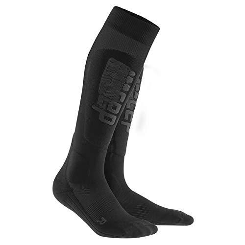 CEP Men's Progressive+ Ultralight Ski Socks, Size 3, Black/Anthracite