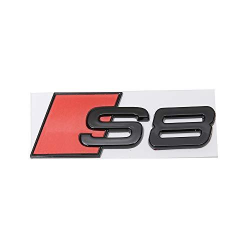 Black S8 Metal Badge Sticker Emblem Car Fender Boot Trunk for Audi (S8)