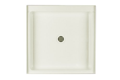 (Swanstone R-3232-018 Veritek Center Drain Shower Base, 32-Inch by 32-Inch by 5-1/2-Inch, Bisque)