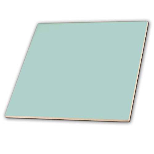 3dRose ct_159844_1 Plain Mint Blue-Solid Color-Light Turquoise-Grey-Gray-Modern Contemporary Simple Pastel Teal-Ceramic Tile, 4-Inch by 3dRose