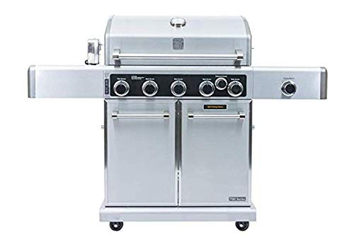 Kenmore PG-40506SRLC-AM Stainless Steel 5 Outdoor Patio Gas BBQ Propane Grill Includes Side Searing Burner and -