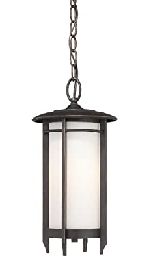 Quoizel DA1910IB Darrow Light Chain Hung Outdoor Lantern, Imperial Bronze