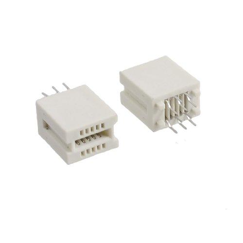 5 Pcs 10 Pin PCI AGP Slot Solder Socket Card Edge Connector Beige