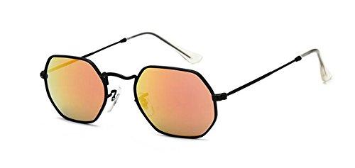 de soleil lunettes en métallique Comprimés Rouges rond style cercle et inspirées Lennon polarisées Jaunes vintage retro du d55qrz